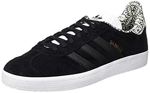 adidas Gazelle, Baskets Basses Femme, Noir (Core Black/Core Black/Footwear White),