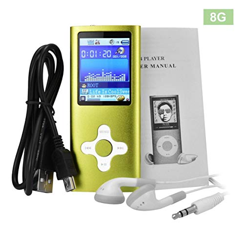 Modisches Design 1.8 Zoll-Schirm-MP4-Player eingebaute 8 GB Speicher Video Raido FM Player Musik-Player Voice Recorder