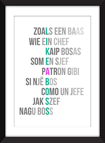 'Like a Boss' - Typographie Imprimer