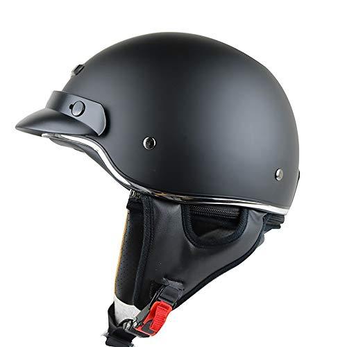 GuoYq Offener Schutzhelm, Motorradhelm Retro Prince Half Helm, Leichter und modischer Four Seasons Universalhelm, 3XL großer Kopfumfang, ECE + DOT + AS + GB Zertifizierung