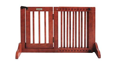 Simply Shield Supreme S | Hunde-Barriere | Hunde-Absperrgitter | Verstellbare Breite mit Tür | In 3 Farben und 2 Größen erhältlich (S, Braun)