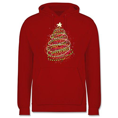 Weihnachten & Silvester - Abstrakter Weihnachtsbaum - Männer Premium Kapuzenpullover / Hoodie Rot