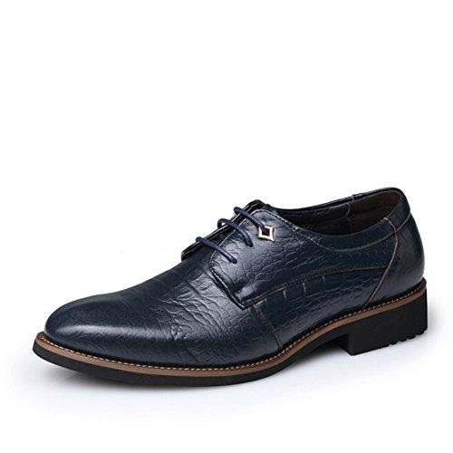 Scarpe/Pattini di vestito/Maschi britannico a punta MOCASSINI/Traspirante scarpe-C Lunghezza (Nero Smooth Pu Bambini Scarpe)