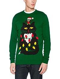 Run & Fly Men's Christmas Meow Jumper