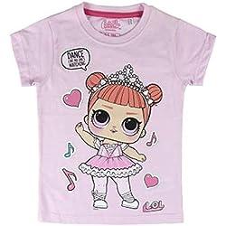 L.O.L. Surprise ! Camiseta para niñas con Las muñecas LOL Rocker, BFF Fancy & Fresh, Diva, M.C Swag, IT Baby, Leading Baby | Top de Verano de algodón para niños (4/5 años, Fancy)