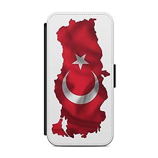 aina Samsung Galaxy S8 Flipcase Tasche mit Magnetverschluss aufklappbar mit Standfunktion Türkiye Türkei