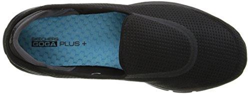 3 nero Bassi Noir Passeggiata Unfold Vanno Femme Sneakers Skechers gE4x6U8