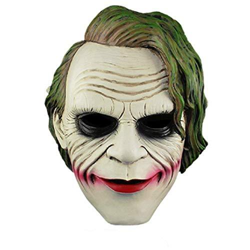 ANKKIRO Latex Maske, Joker Batman für Halloween Party -