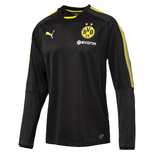 PUMA BVB Trainings-Sweatshirt Puma Black-Cyber Yellow XS