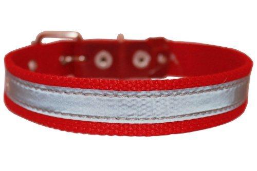 Hochwertige Baumwolle Web/Leder Halsband Reflektierend 45,7cm lang 3/10,2cm breit passend 30,5cm 16-