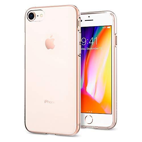 Spigen 042CS20435 Liquid Crystal Kompatibel mit iPhone 8/7 Hülle, Transparent TPU Silikon Handyhülle Durchsichtige Schutzhülle Case Crystal Clear Crystal Clear Schutz