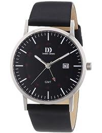 Danish Design Herren-Armbanduhr XL Analog Quarz Leder 3314447