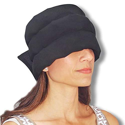 Bovake Eisbeutel Kältetherapie Kopfschmerz Hut Das Tragbare Eisbeutel Band für Spannungs Migräne Kopfschmerzen