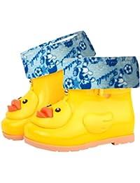 Saingace Water Shoes For Kids, Boys Girls Baby Cute Cartoon Duck Rubber Waterproof Detachable Boots Shoes Rain...