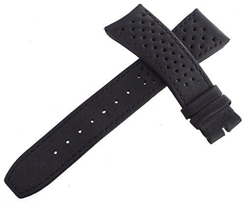 Raymond Weil Herren 22mm x 18mm schwarz Leder Uhrenarmband Löcher to96182,15