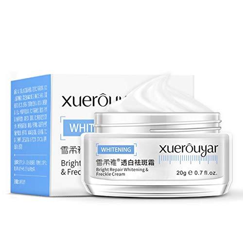 PENGYOUU Gesichtscreme Hautaufhellende Creme Sommersprossencreme Dark Spot Corrector Remover Entfernt Hyperpigmentierung Reduziert Melasma Lightens für die Gesichtspflege