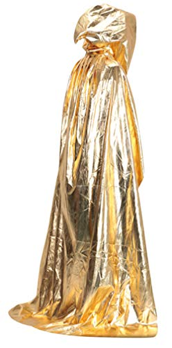 5ALL Magic Halloween-Kostüm Unisex Zaubererumhang mit Kapuze Vampir -