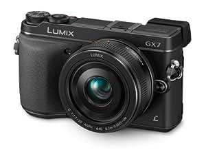Panasonic Lumix DMC-GX7CEB-K G Series Compact System Digital Camera - Black (20mm Lens, 16MP)