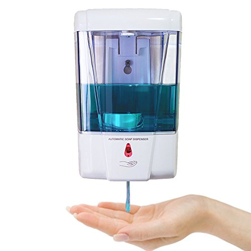 StillCool Battery Powered Wall-Mount Automatic Hand Soap Dispenser Touchless Kitchen Soap Lotion Senor Pump (D9031-110*95*165mm)