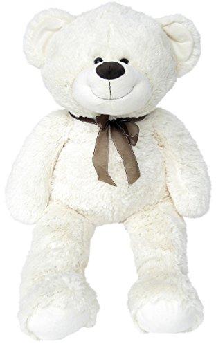 Wagner 9021 - XXL Plüschbär Teddy Bär - 100 cm groß - weiß - Teddybär