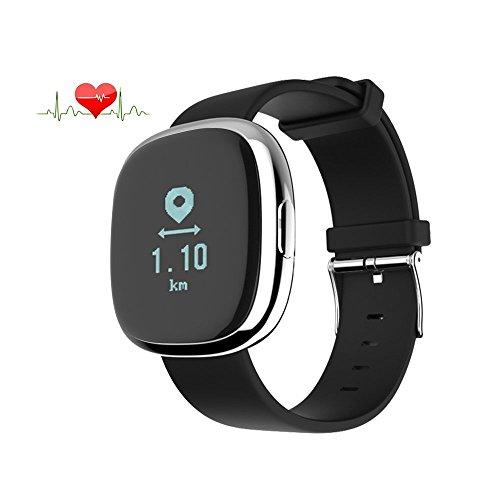 Jcotton Bluetooth Smart Watch IP67 Wasserdichte Smart Armband Herzfrequenz-Monitor Sport Wristband Fitness Tracker Multi-Sport-Modus Gesundheit Monitor Pedometer Anruf Nachricht Erinnerung für IOS Android Phone