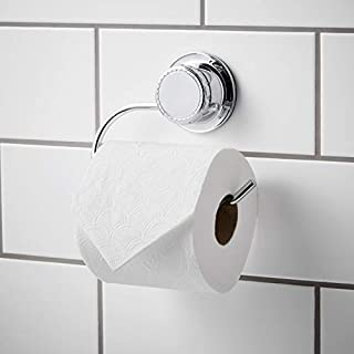 Bloomsbury Mill Halterung für eine Rolle Toilettenpapier mit extra starkem Saugnapf, Papierspender fürs Badezimmer, rostet nicht leicht, Chrom