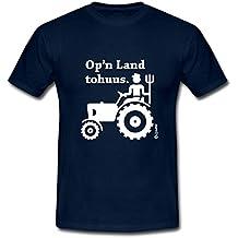 Op'n Land Tohuus Traktor Landwirt Platt Männer T-Shirt von Spreadshirt®