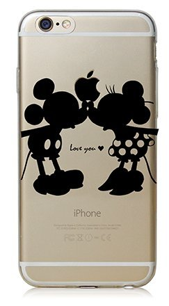 coquefone Coque iPhone 6/6S Mickey et Minnie I Love You