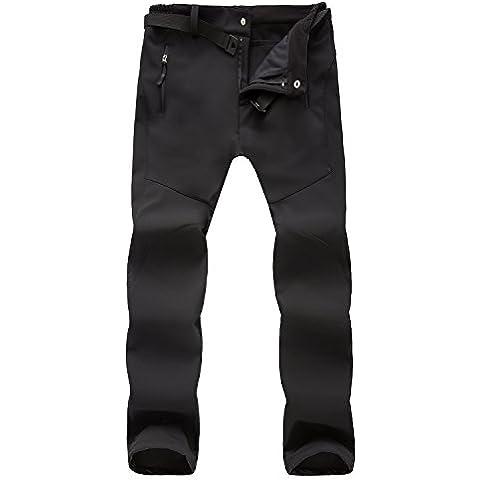 M.Baxter Pantalones de Montañismo Otoño e Invierno de Esquí Impermeable a Prueba de Viento de Concha Blanda Pantalones Espesantes para