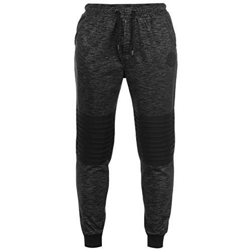 Everlast Herren Boston Sweatpants Fleece Jogginghose Mit Bündchen Black Marl XXL (Everlast Gerippt)
