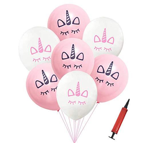 Tumao 50x Einhorn Luftballons Ballons Latexballons Kindergeburtstag Geburtstag Unique Party Supplies Unicorn Set Folieballon Helium.