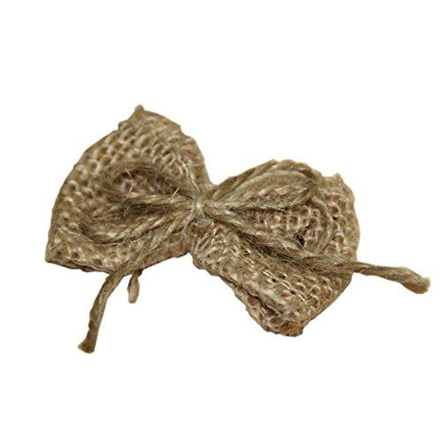 te natürliche Sackleinen hessischen Bandbowknot Bogen für Craft ()