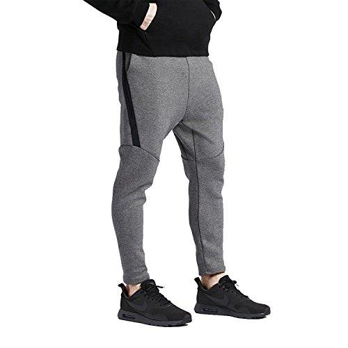 Nike TECH FLC CROPPED PANT-Pantaloni da uomo, colore: grigio/nero, taglia 4XL