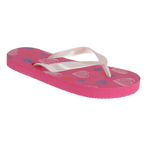 Sandrocks Girls//Kids//Toddlers Butterfly Design Flip Flops with Elasticated Heel Strap