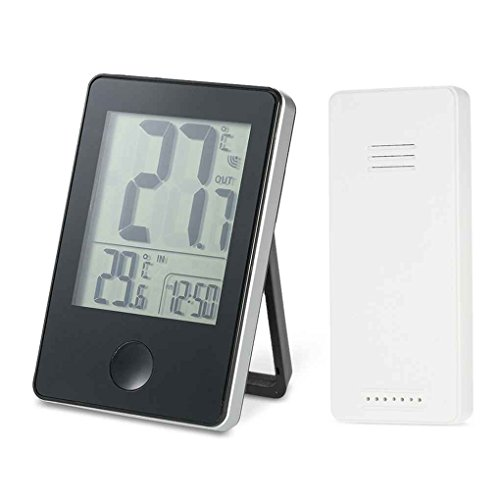 Aiming Fern Precision Wireless Digital-Thermometer Indoor Outdoor Temperatur-Messinstrument Zeitanzeige Uhr Tischfuß Wetterstation