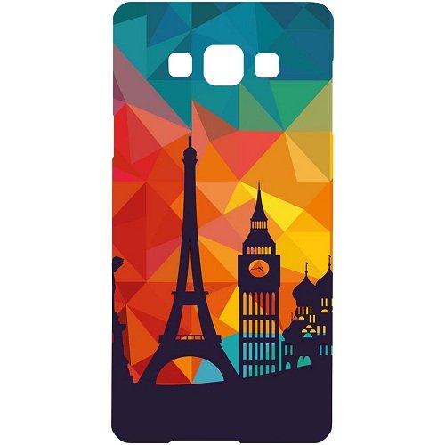 Casotec Colored Paris Design Hard Back Case Cover for Samsung Galaxy Grand Max