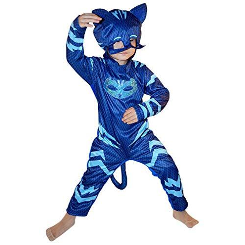 Wetry Kinderkostüm Cospaly Halloween Verkleidung Maskierter Superheld Faschingskostüm Für Jungen und Mädchen