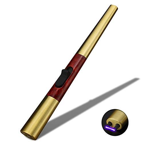 Plasma Lichtbogen Leichter KüChe Feuerzeug USB Wiederaufladbare Flammenlose Winddicht Kerze Leichter Sicherheitsschalter Outdoor Tragbare,J