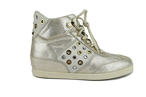 cesare-paciotti-sneakers-damen-40-eu-platin-leder-textil-ah652