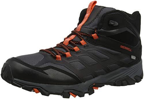 Merrell Herren Moab FST Ice+ Thermo Trekking- & Wanderstiefel, Schwarz Black/Orange, 45 EU Base-orange-fleece