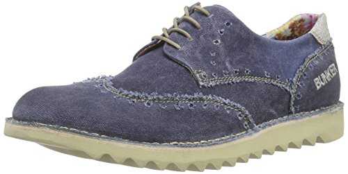 Bunker Lace Up, Derby homme Bleu - Bleu marine