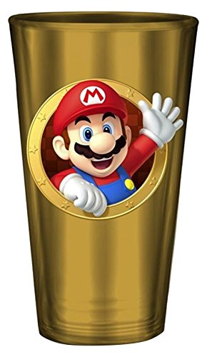 rp gifjfy007Nintendo-Super Mario Geformt Schnurrbart Stroh PVC Tasse x1, Mehrfarbig ()