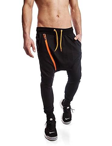 24brands Herren lange Freizeit Hosen im Haremstil Sporthose Jogginghose Fitnesshose