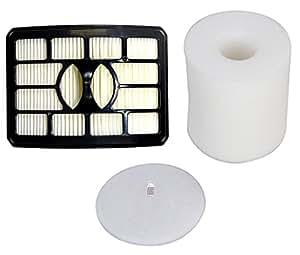 Techypro® Shark rotator filter NV500 Sets, Fit Rotator Professional Lift-Away NV500, NV501, NV502, NV503, Vacuums Part # XFF500 & XHF500, include 1 HEPA and 1 Foam & Felt Filter by Techypro
