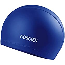 GOSCIEN Gorra de Natación, Silicona Impermeable Gorro de Natación Sombrero de Natación Mejor para Niños y Adultos