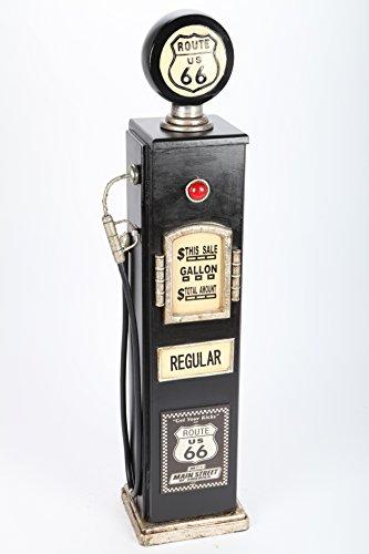 k CD-Turm Zapfsäule im Retrolook schwarz 105cm ()