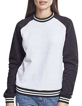 Urban Classics Ladies Contrast College Crew, suéter para Mujer