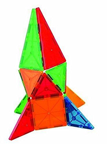 Mag-Genius Award Winning building Tiles Clear Colours 3D Brain Building Blocks (32 Pieces)