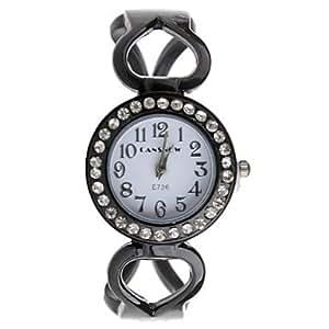 MOFY cansnow montre analogique de la mode montre ˆ quartz bracelet de bande d'alliage des femmes (couleurs assorties) , Noir