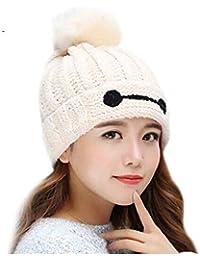 YN Sombrero de Invierno Versión Coreana de The Tide Knit Hat Orejeras para Mujer  Sombrero Moda bb49276c974